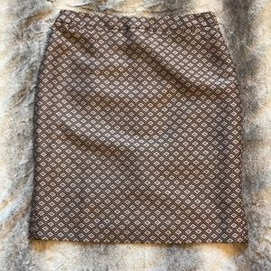 Halogen Welt Pocket Pencil skirt 6 ikat print EEUC